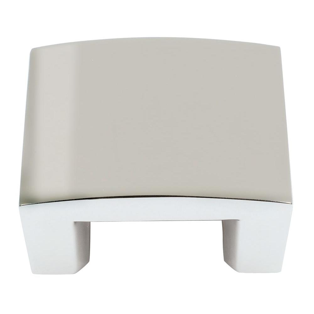 Atlas Homewares Centinel Collection 1-3/4 in. Polished Nickel Cabinet Knob