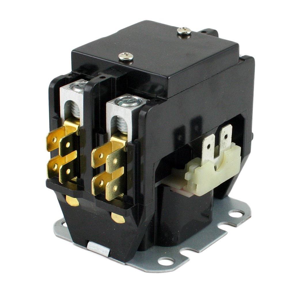 24-Volt Coil-Voltage F/L-Amp 30 Pole 2 Res 40-Amp Definite Purpose Contactor