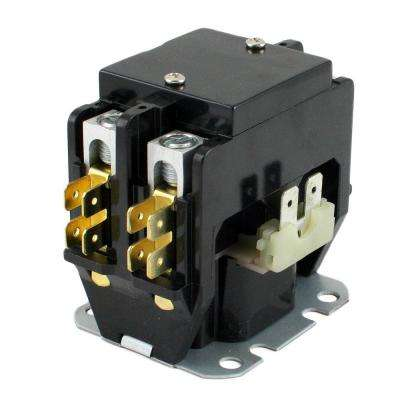 24-Volt Coil-Voltage F/L-Amp 30 Pole 2 Res 40-Amp Definite Purpose Contactor