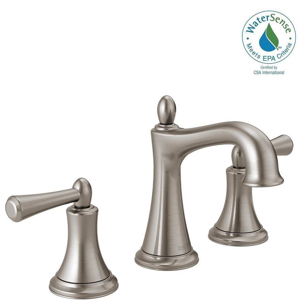 Rila 8 in. Widespread 2-Handle Bathroom Faucet in SpotShield Brushed Nickel