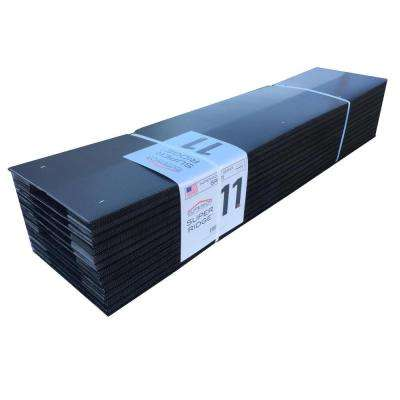 11 in. x 48 in. Corrugated Ridge Vent in Black (12-Piece per Case)
