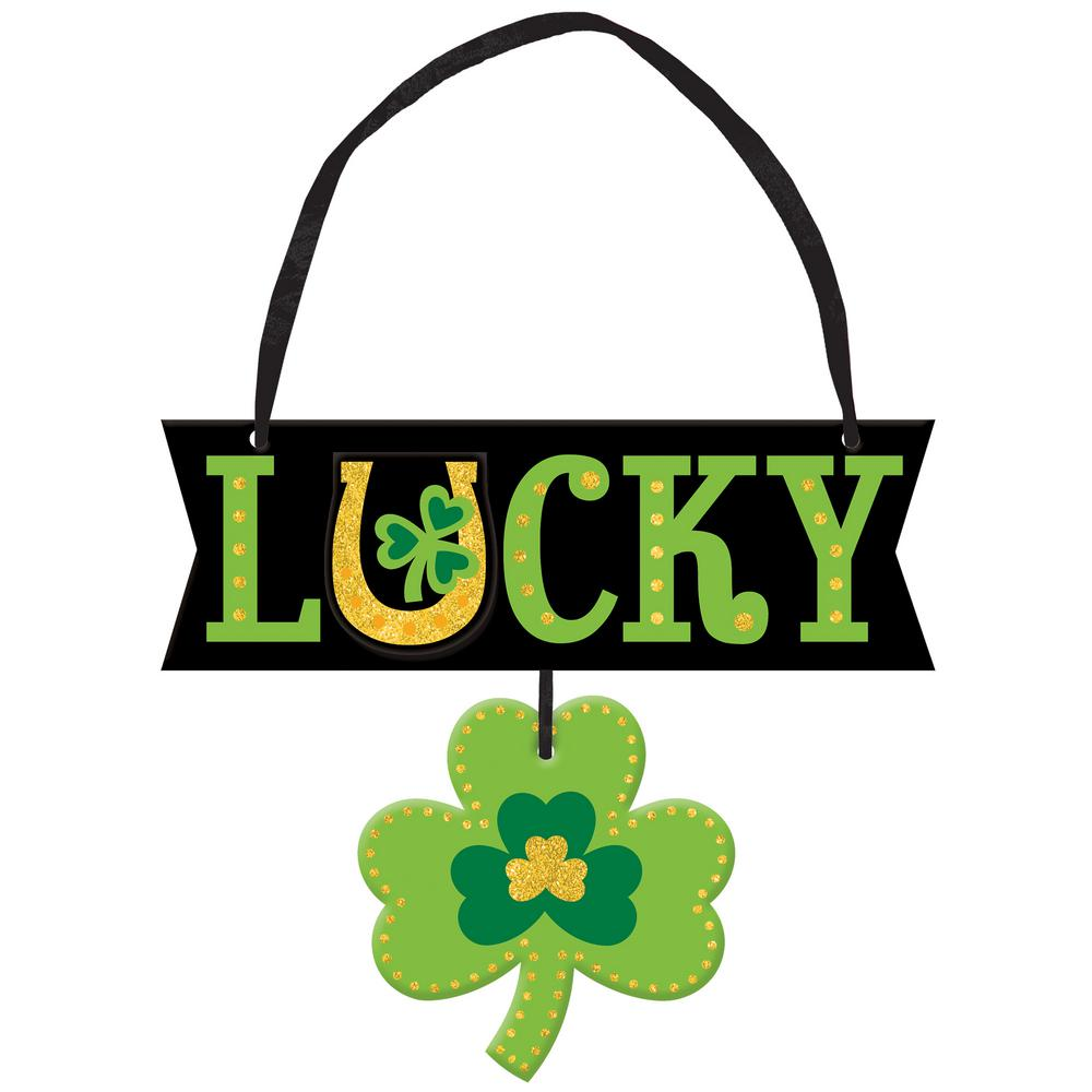 95df81011c4 Amscan 5.25 in. x 6 in. St. Patrick s Day MDF Lucky Sign (6-Pack ...