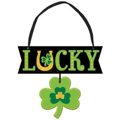 5.25 in. x 6 in. St. Patrick's Day MDF Lucky Sign (6-Pack)