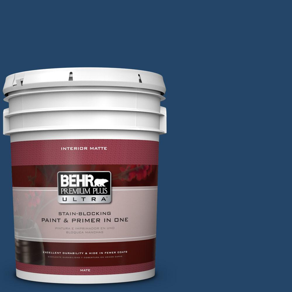 BEHR Premium Plus Ultra 5 gal. #PPF-57 Lake View Flat/Matte Interior Paint