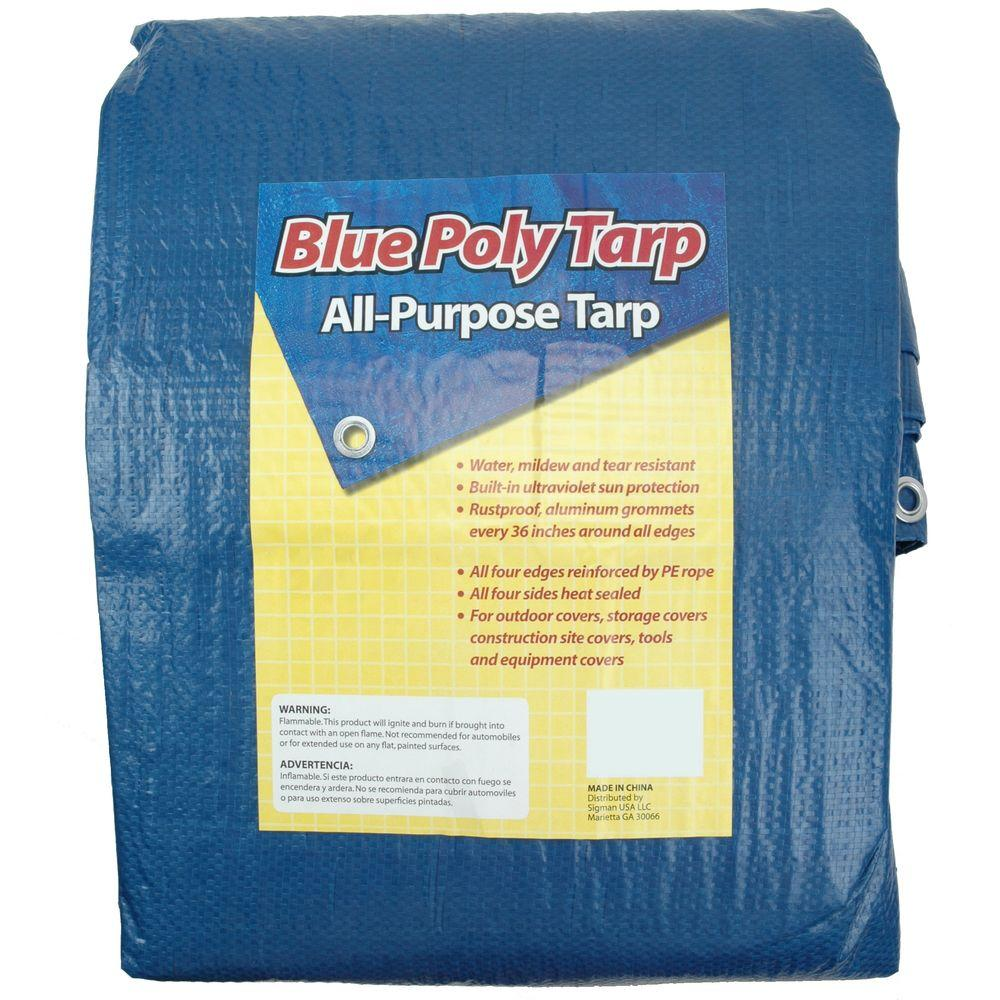 Sigman 10 Ft X 12 Ft Blue Tarp Bpf010012 The Home Depot