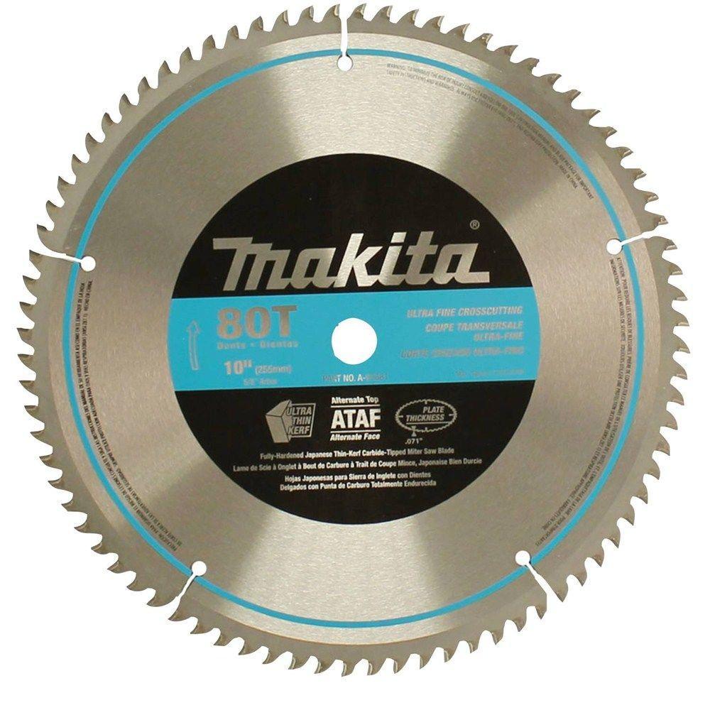 Makita 10 inch x 5/8 inch 80-Teeth Micro-Polished Miter Saw Blade by Makita