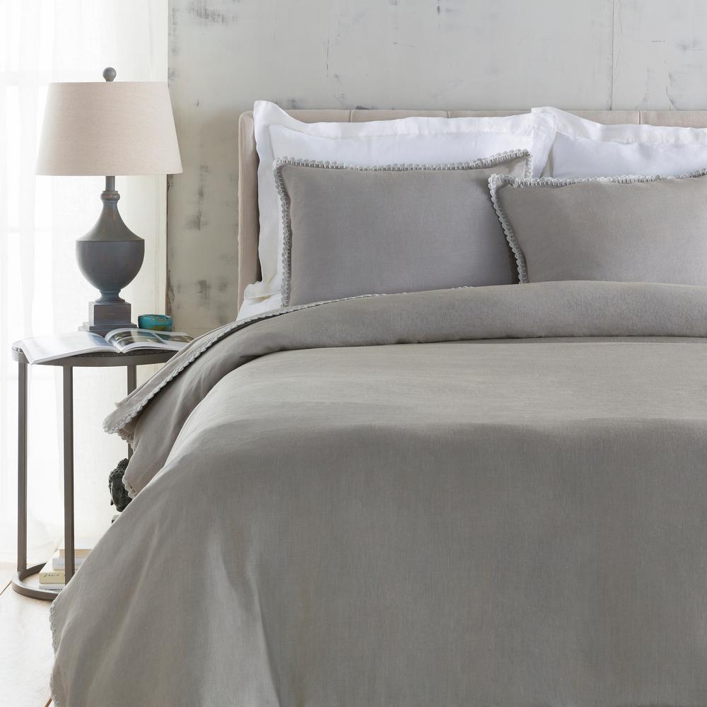 Ellenora Medium Gray Twin Duvet Set