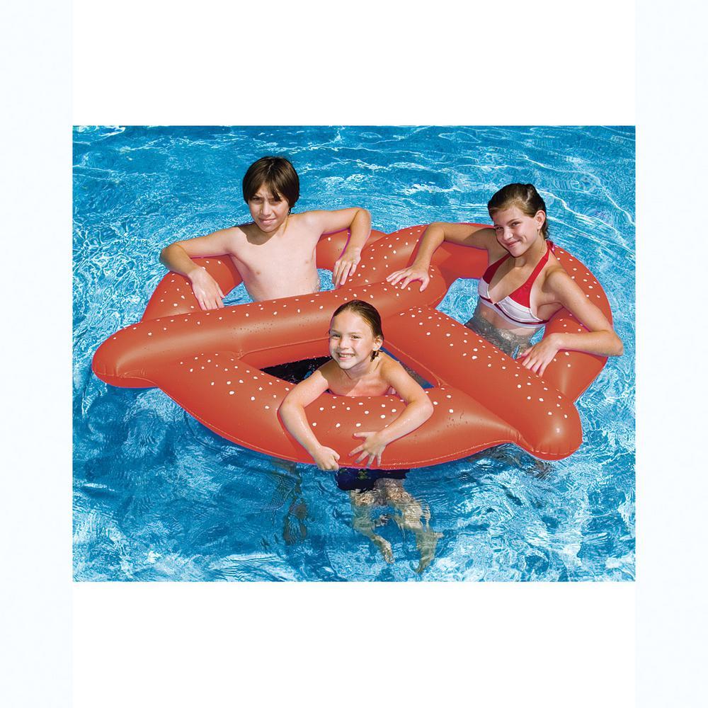 60 in. Brown Giant Pretzel Pool Float
