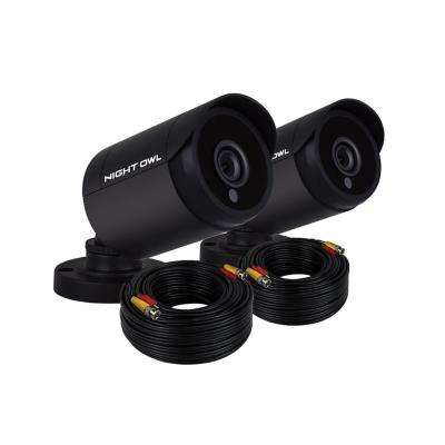 1080p HD Wired Bullet Cameras (2-Pack)