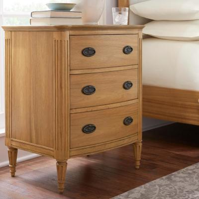 Ashdale 3-Drawer Patina Nightstand