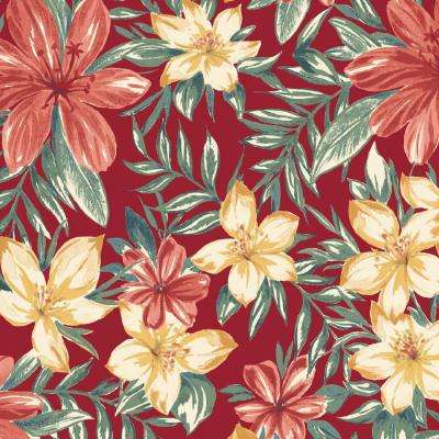 Ruby Clarissa Tropical Outdoor Fabric by The Yard