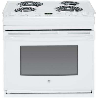 30 in. 4.4 cu. ft. Drop-In Electric Range in White