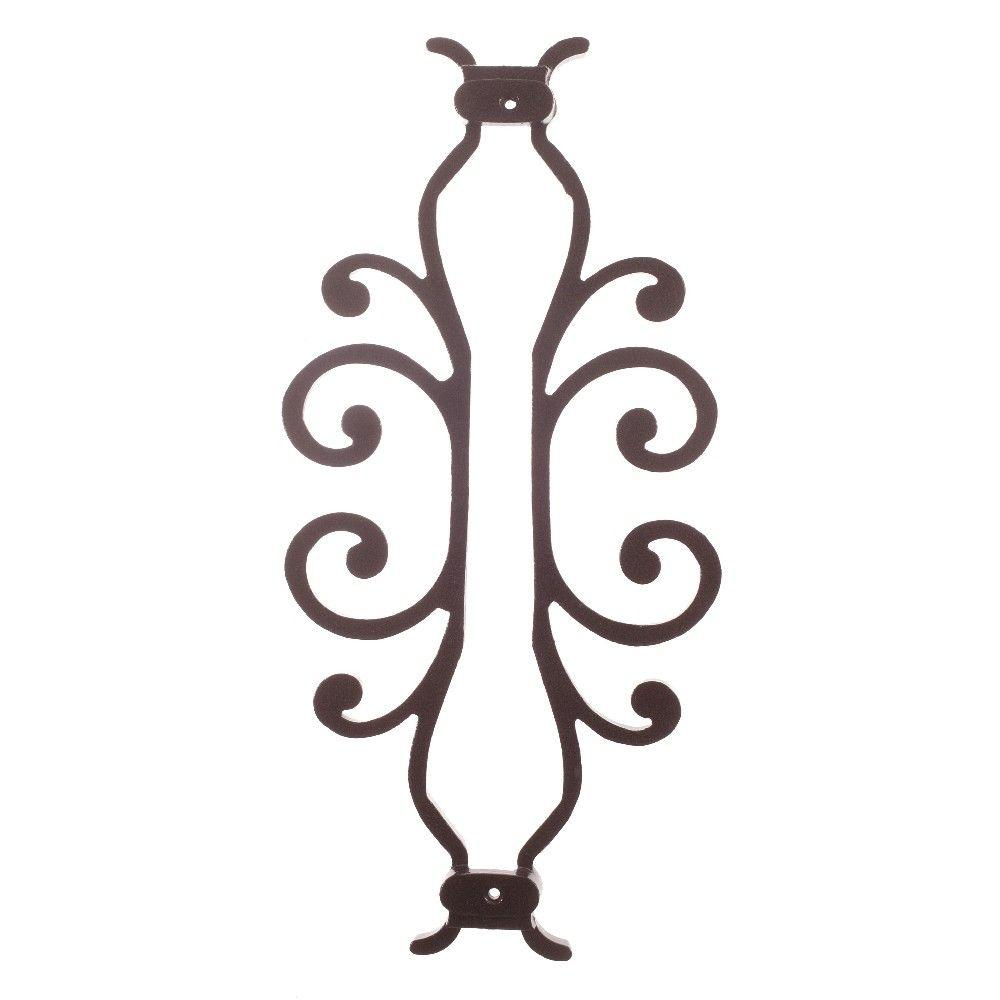 American Heritage 15 in. x 7-5/8 in. Aluminum Black Baluster Centerpiece, Black Smooth
