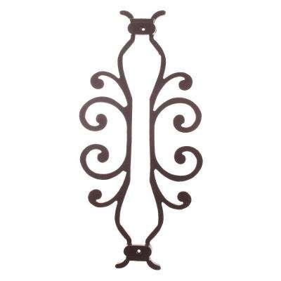 American Heritage 15 in. x 7-5/8 in. Aluminum Black Baluster Centerpiece