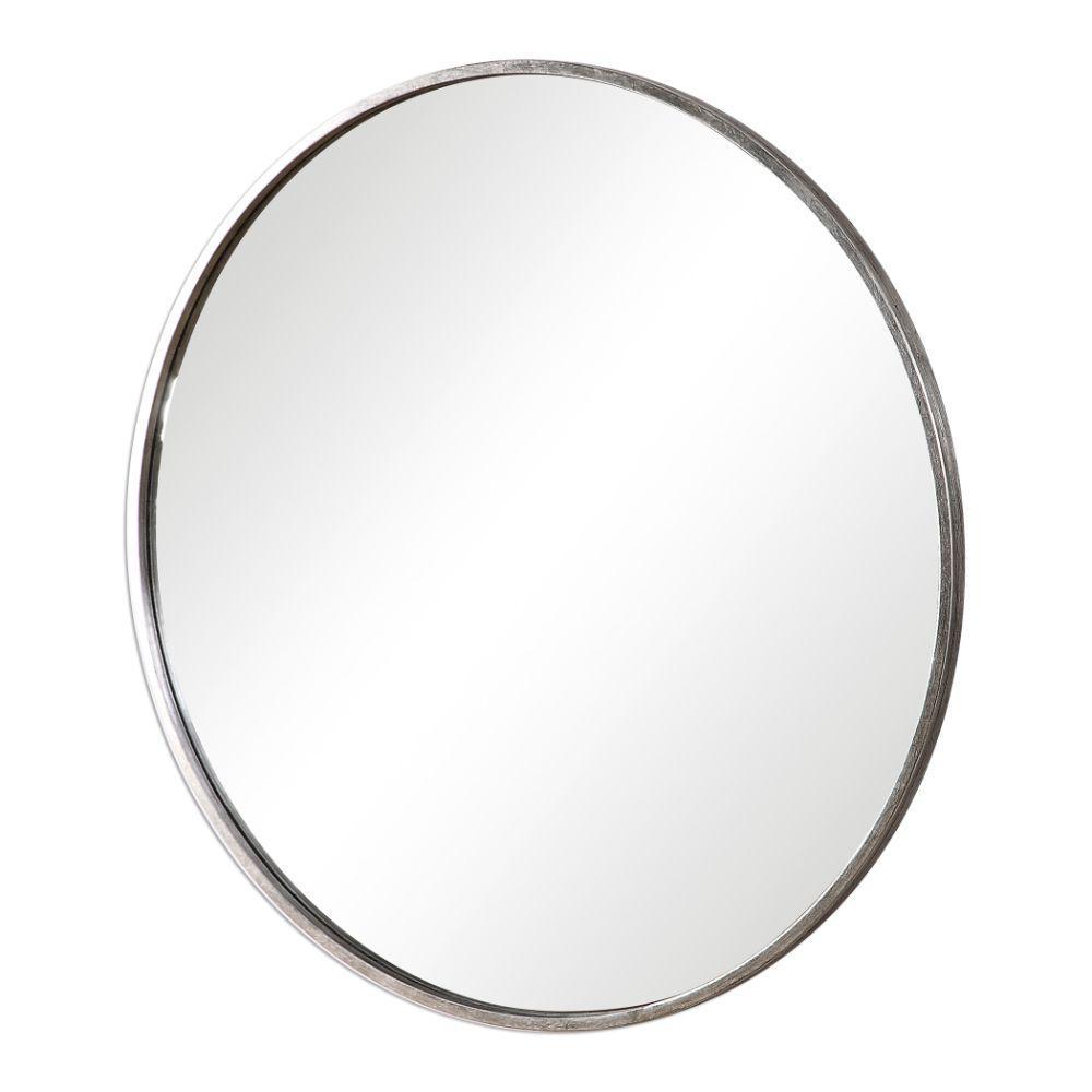 Medium Round Metal Modern Mirror (35 in. H x 35 in. W)