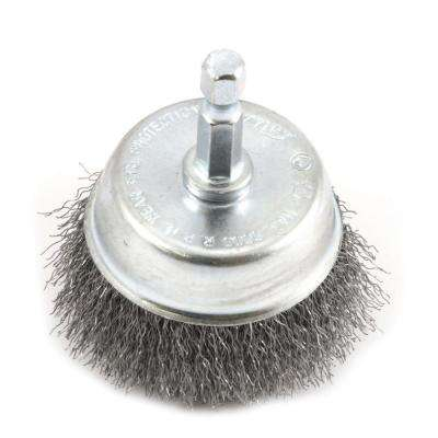 2 in. x 1/4 in. Hex Shank Fine Crimped Wire Cup Brush