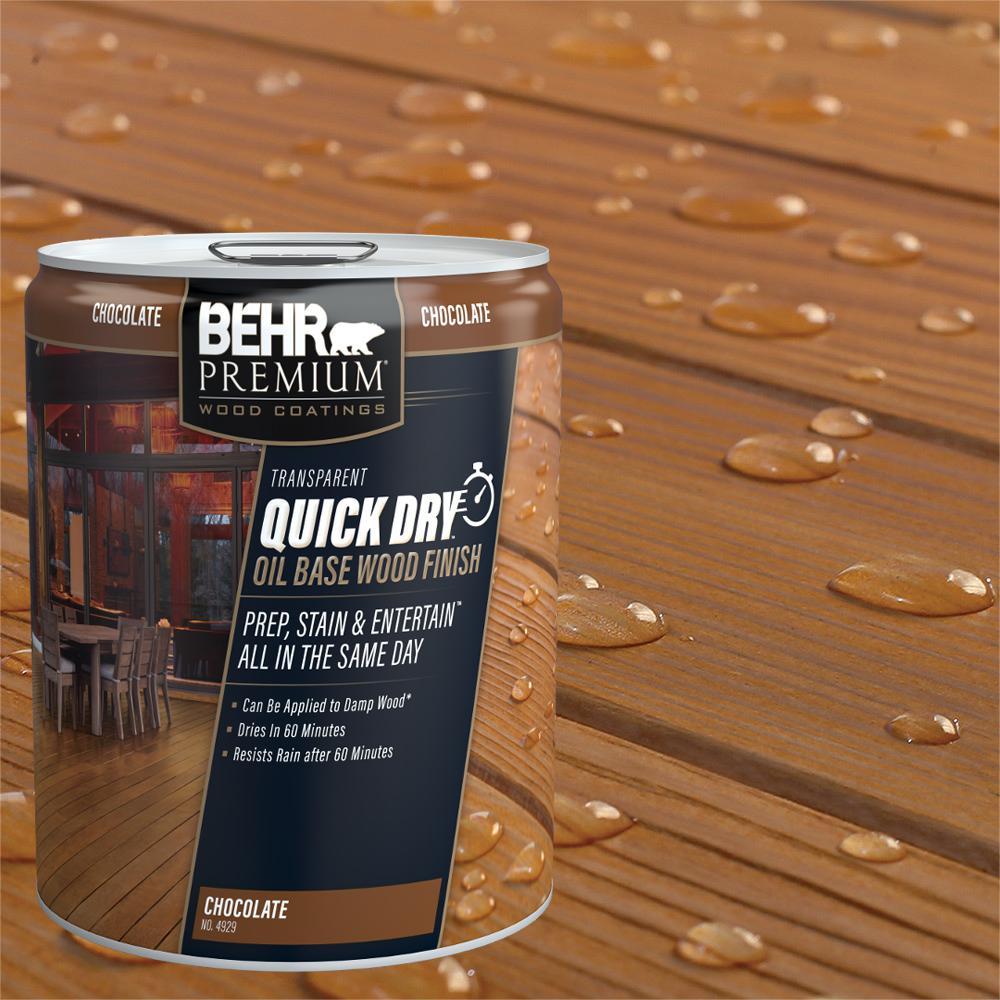Behr premium 5 gal transparent quick dry oil base wood - Behr exterior wood stain reviews ...
