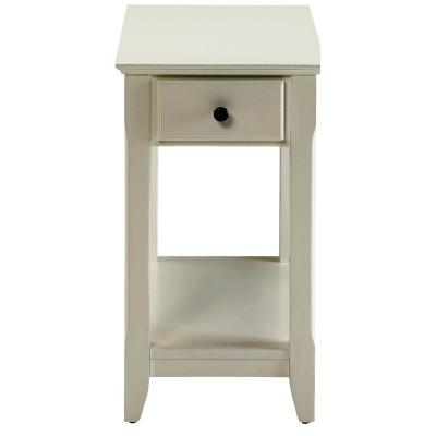 Amelia White Wood Veneer Side Table