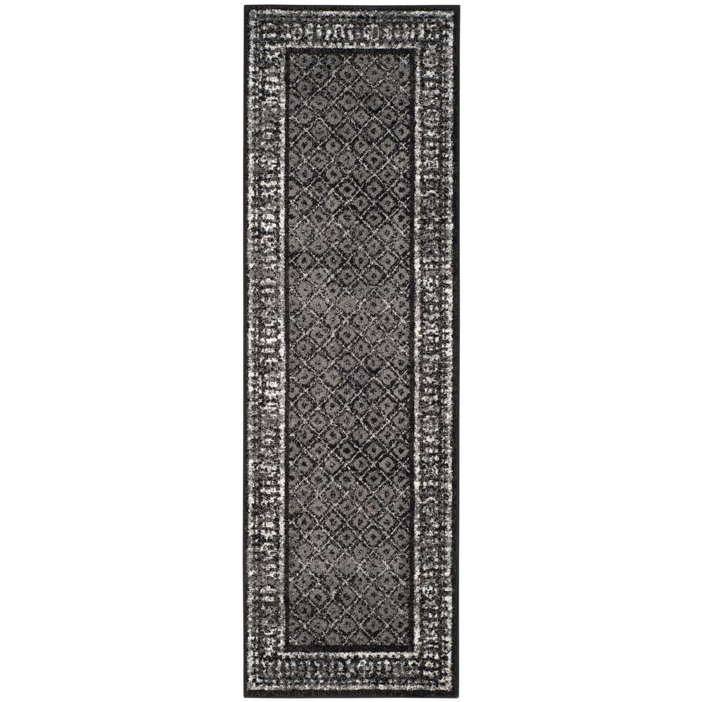 Adirondack Black/Silver 3 ft. x 12 ft. Runner