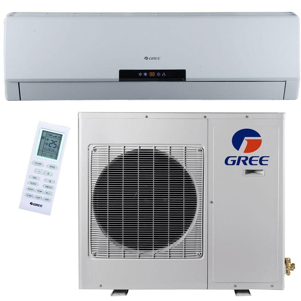 GREE Premium Efficiency 24,000 BTU (2 Ton) Ductless (Duct Free) Mini Split Air Conditioner - Inverter, Heat, Remote 208-230V