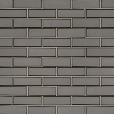 Champagne Bevel Subway 11.73 in. x 11.73 in. x 8mm Glass Mesh-Mounted Mosaic Tile (9.6 sq. ft. / case)