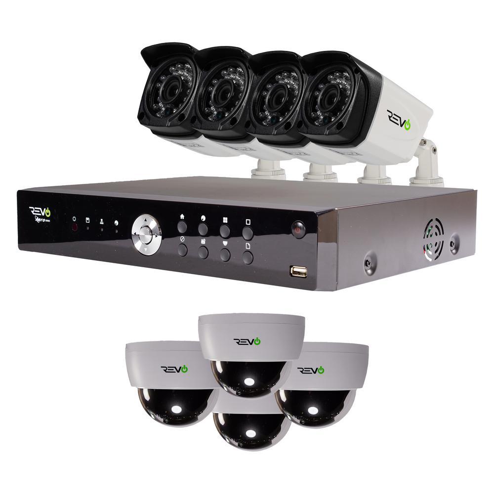 Aero 16-Channel HD 2TB Surveillance DVR with 8 Indoor/Outdoor Cameras
