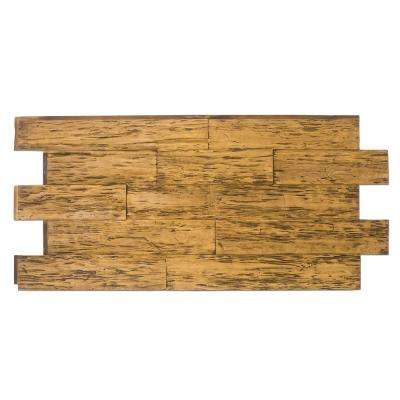 Time Weathered Faux Rustic Panel 1-1/4 in. x 48 in. x 23 in. Fall Leaf Brown Polyurethane Interlocking Panel