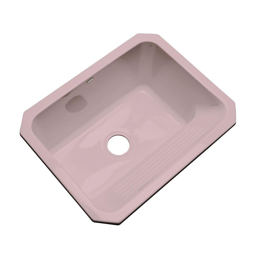 Thermocast Kensington Undermount Acrylic 25 in. Single Bowl Utility Sink in Wild Rose