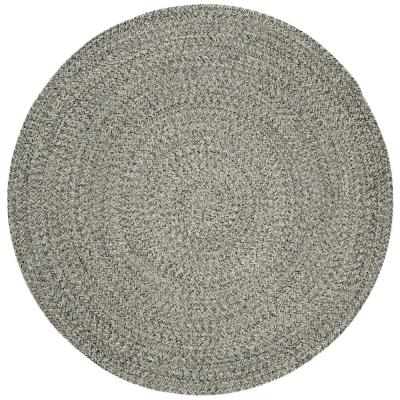 Braided Ivory/Steel Gray 4 ft. x 4 ft. Round Area Rug