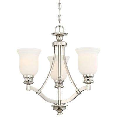 Audrey's Point 3-Light Polished Nickel Chandelier