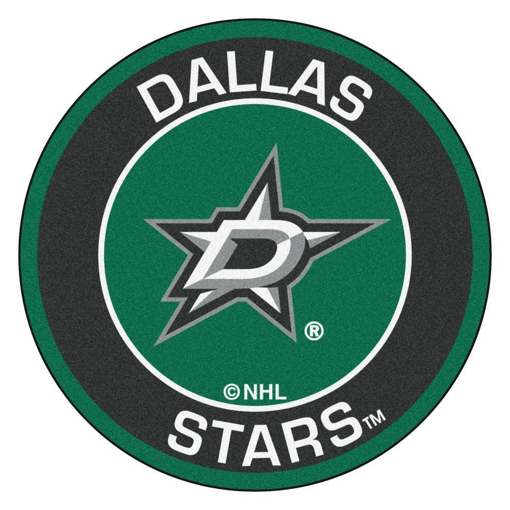 FANMATS NHL Dallas Stars Black 2 ft. x 2 ft. Round Area Rug
