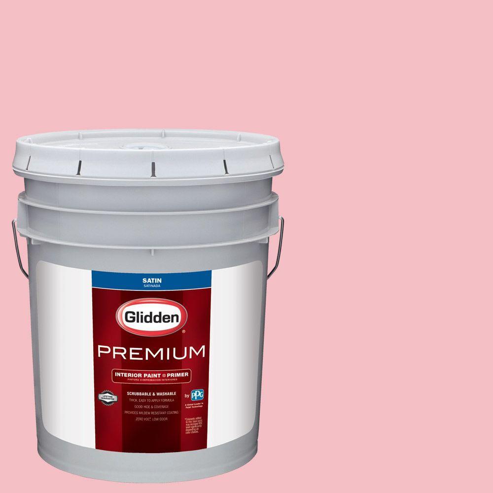 Glidden Premium 5 gal. #HDGR29 Cotton Candy Pink Satin Interior ...