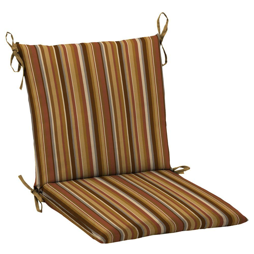 Hampton Bay Rustic Stripe Mid Back Outdoor Chair Cushion