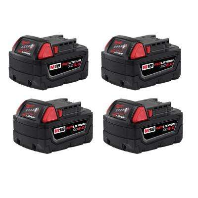 M18 18-Volt Lithium-Ion XC Extended Capacity Battery Pack 6.0Ah (4-Pack)