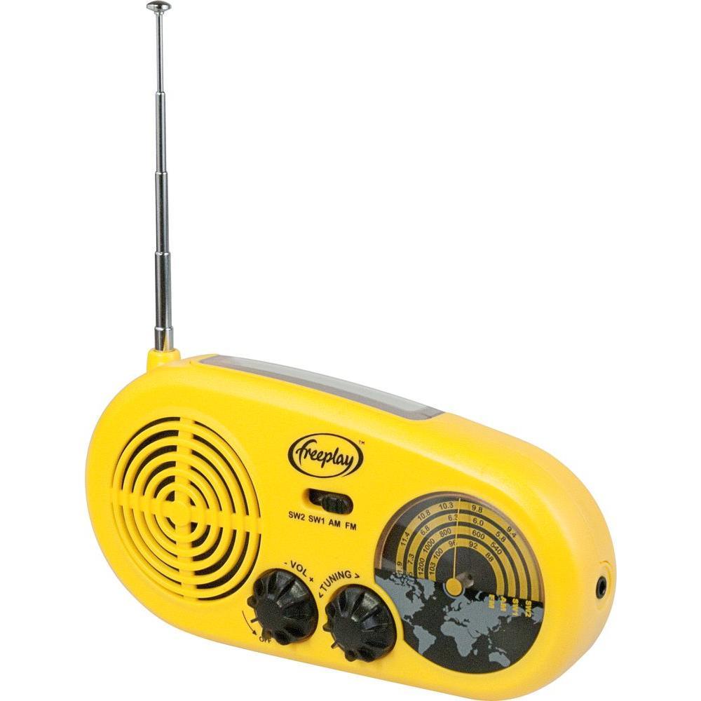 Freeplay Assist Solar/Wind-Up AM/FM/SW Radio with Flashlight