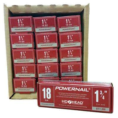 Powercleats 1-3/4 in. 18-Gauge Hardwood Flooring Nails 15 Boxes of 1,000 (15000-Pack)