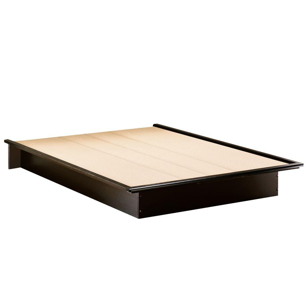 South S Step One Queen Size Platform Bed In Pure Black