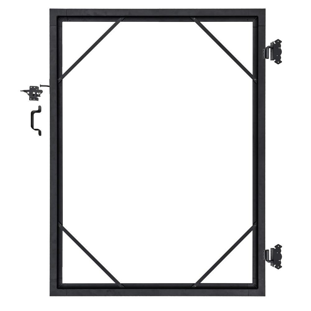 Aluminum Door Frame With Black Paint
