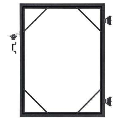 6 ft. x 6 ft. Euro Style Adjustable Aluminum Metal Fence Gate Frame Kit