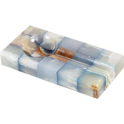 Bleu Onyx Rectangular Cigar Ashtray