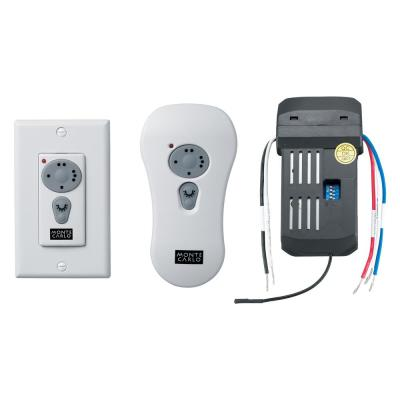 Ceiling Fan Control and Receiver with Three Speed Dimming Transmitter - Includes Enclosure for Remote or Plates for Wall