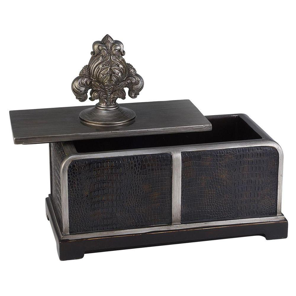 6 in. x 11 in. Sobek Dark Espresso Decorative Box