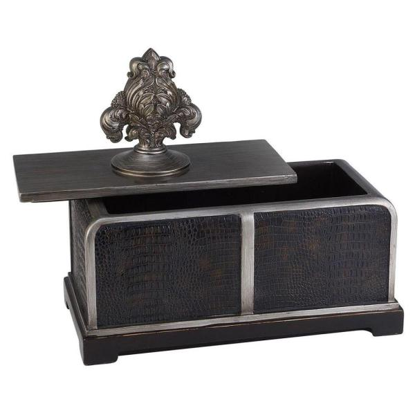 Ore International 6 In X 11 In Sobek Dark Espresso Decorative Box