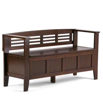 Adams Medium Rustic Brown Storage Bench