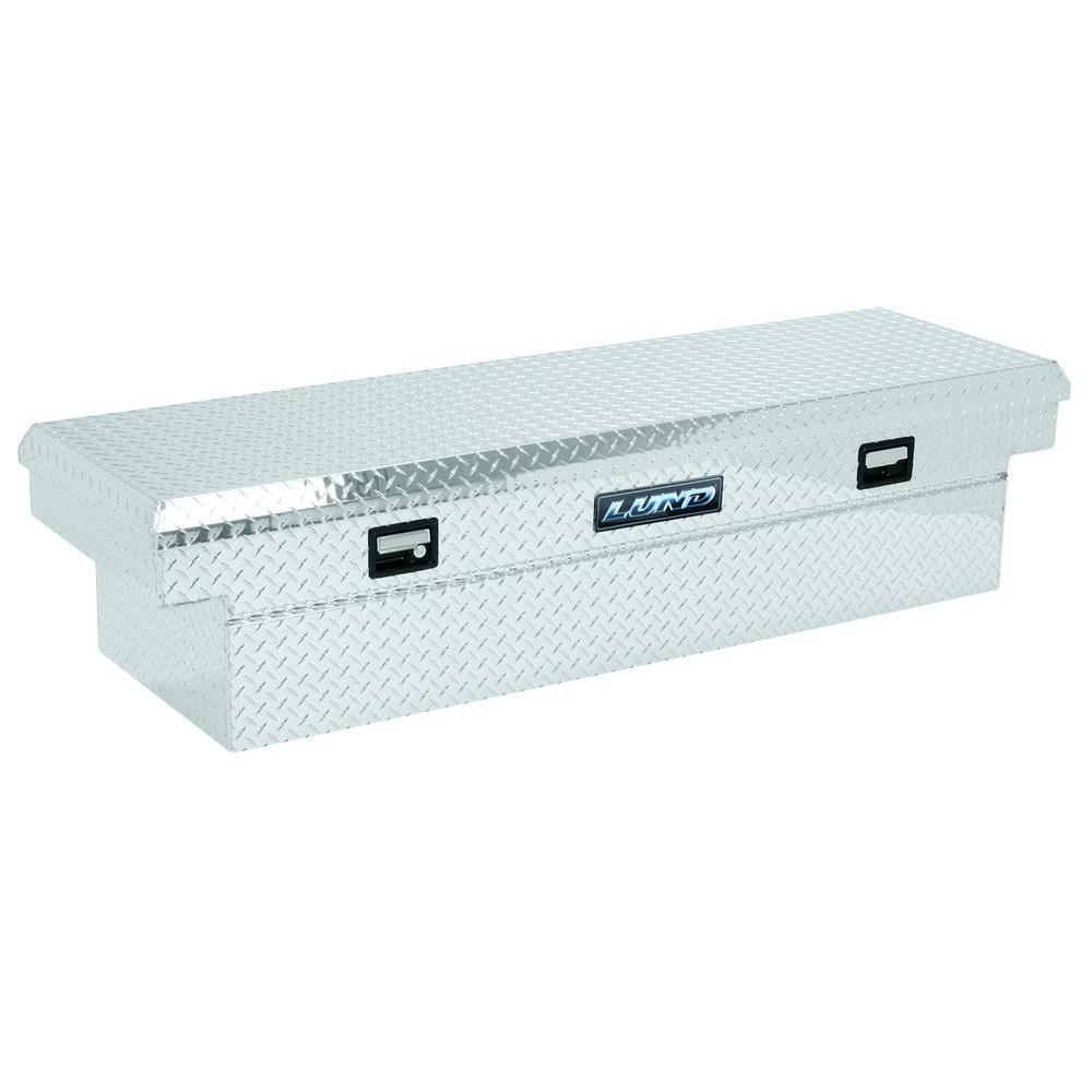 Lund//Tradesman 5400T 70-Inch Full-Size Aluminum Cross Bed Truck Tool Box with Single Foam Filled Lid