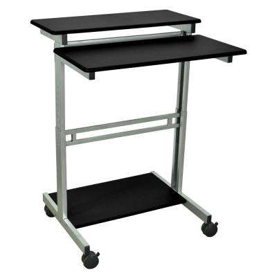 Black Adjustable Stand Up Workstation
