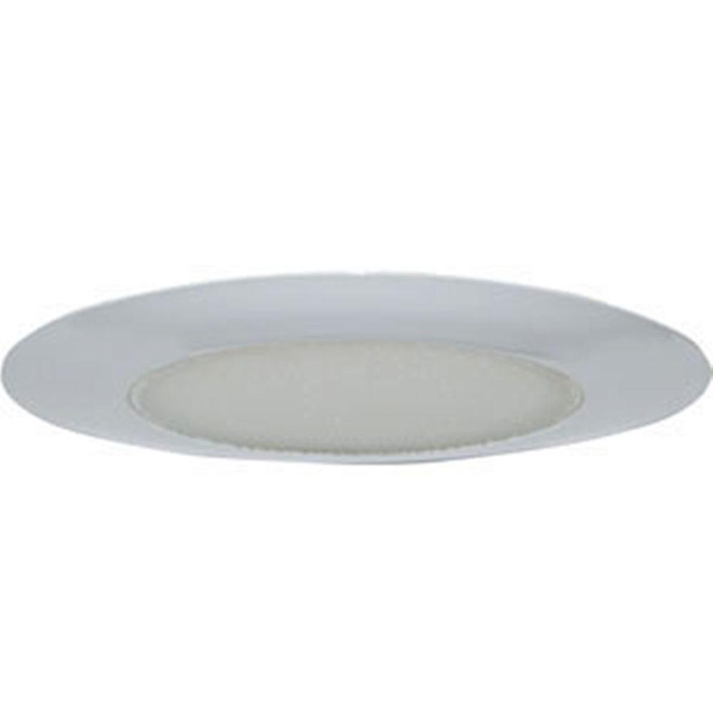 White Recessed Lighting Shower Trim With Albalite Lens