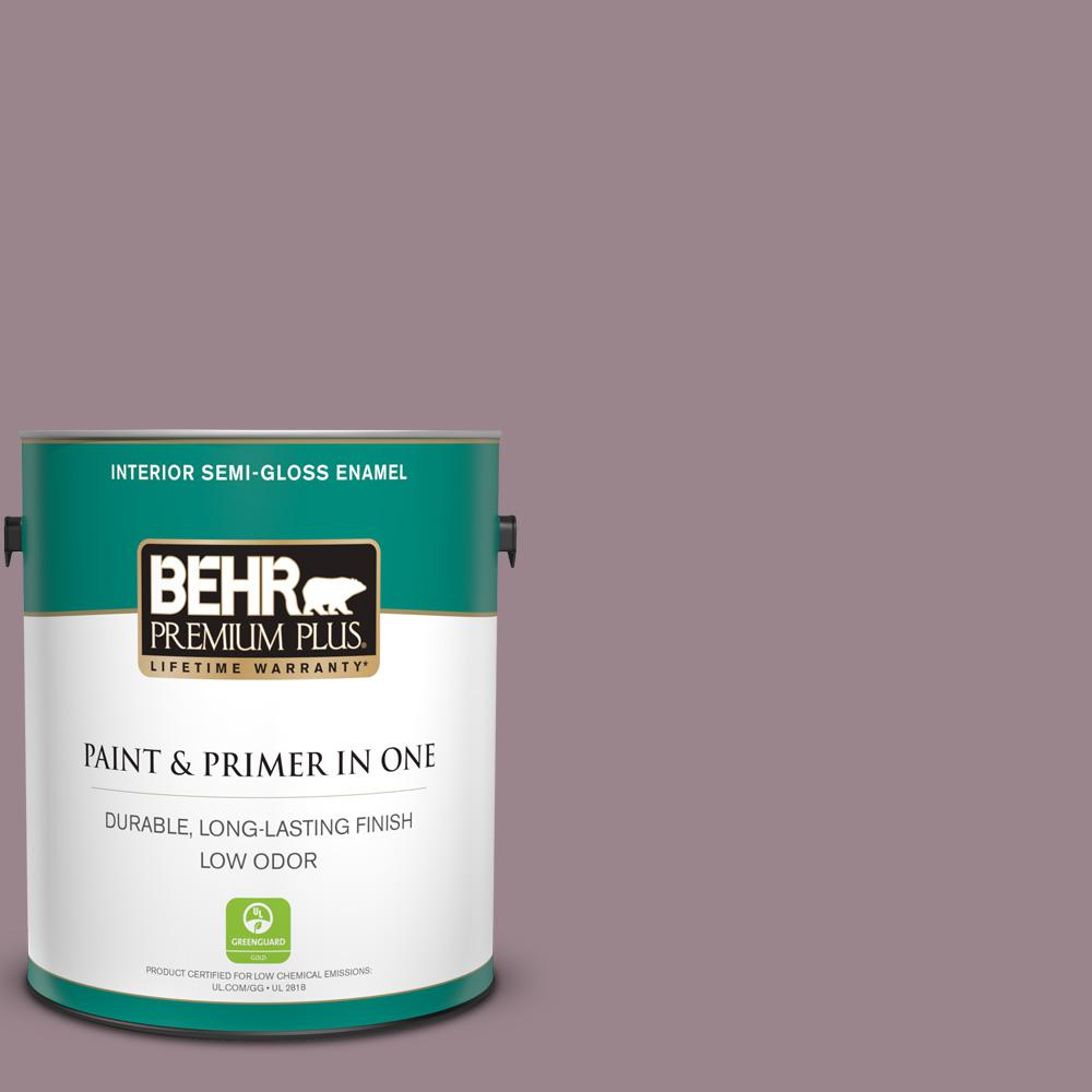 Behr Premium Plus 1 Gal Ppu17 14 Dream Sunset Semi Gloss Enamel Low Odor Interior Paint And Primer In One 340001 The Home Depot