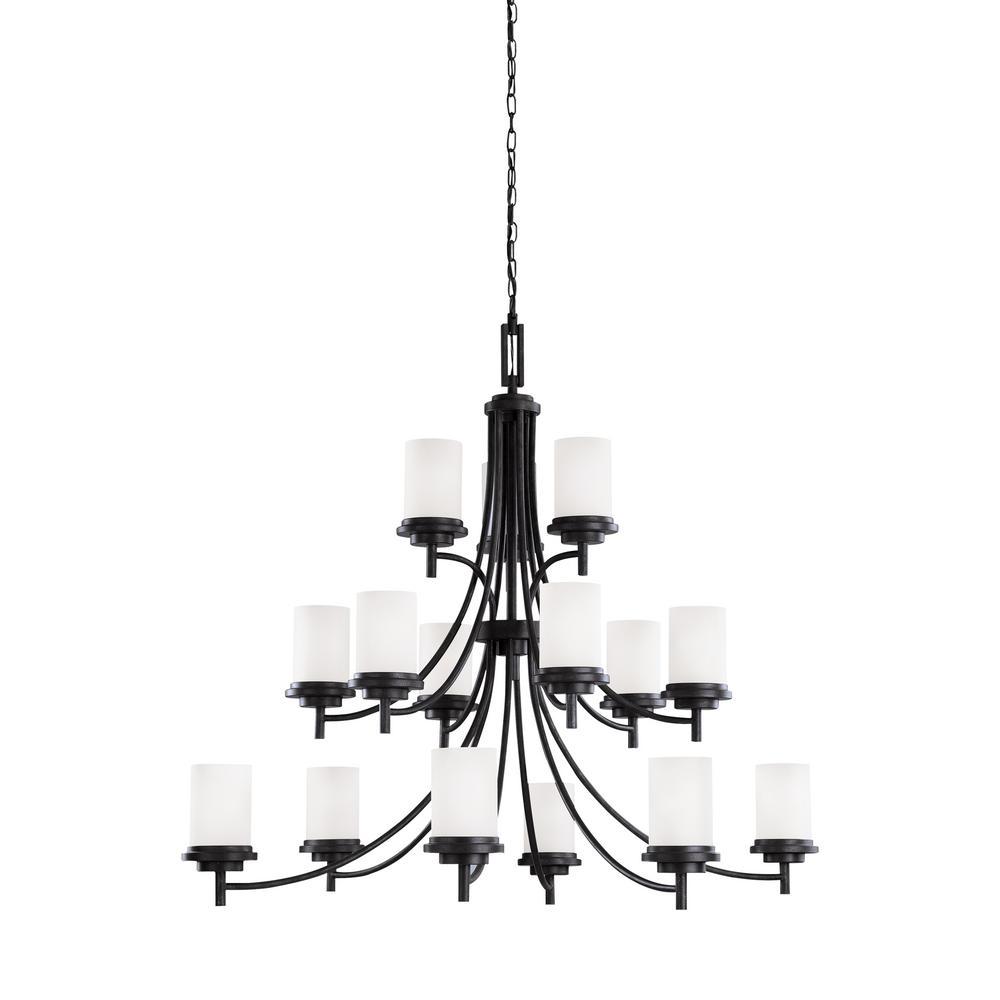 Winnetka 15-Light Blacksmith Chandelier with LED Bulbs