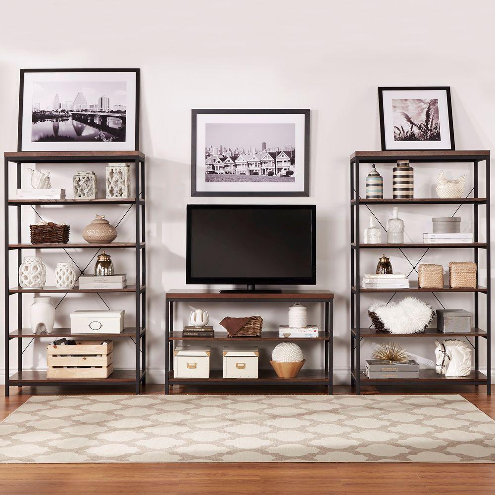 HomeSullivan Touchard Brown Open Bookcase